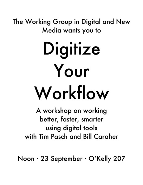 Digitize Your Workflow Sept 2011