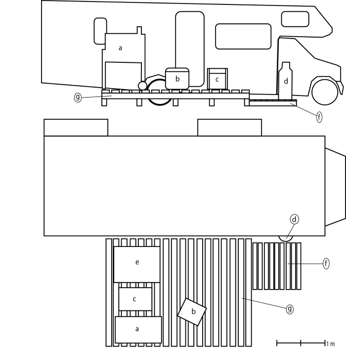 Line Drawing Of An RV In The Bakken