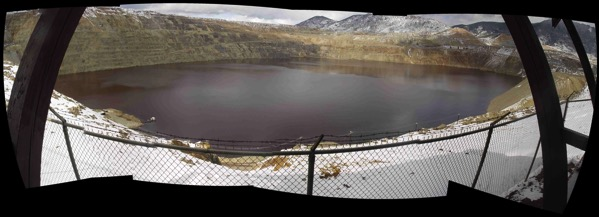 Butte MT Berkeley Pit April 2005 Composite Fisheye View