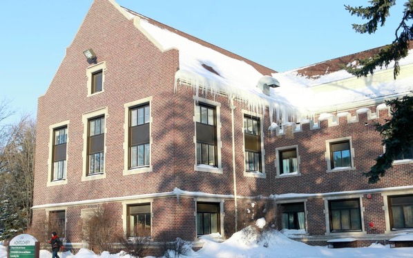 Montgomery Hall on the UND campus is an example of the Tudor Revival architectural style The hall was designed by architect Joseph Bell DeRemer and built in 1911 to be the dining hall for students