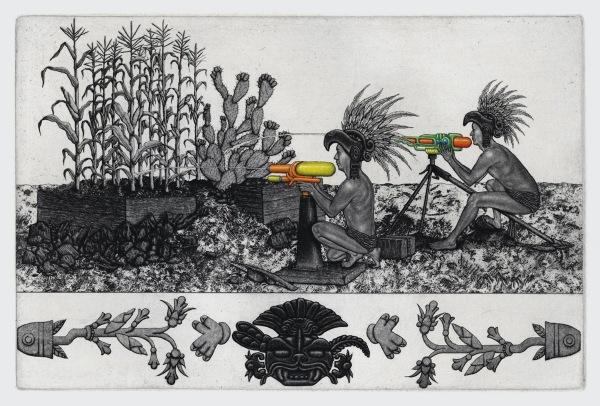 81 1 09 Hernandez Regando el Maiz y el Nopal